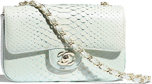 Chanel New Mini Python Classic Bag
