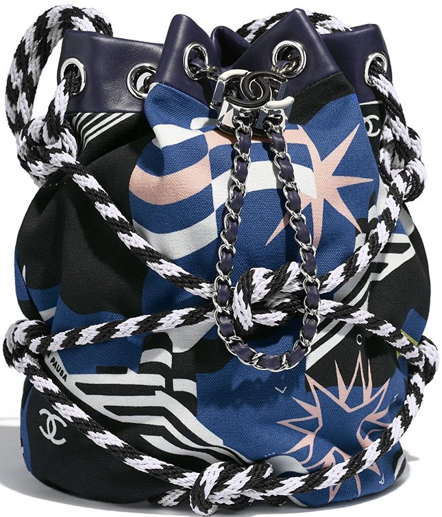 Chanel Cotton Drawstring Bag