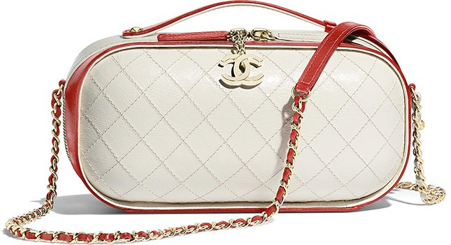 Chanel Crumpled Calfskin Vanity Case Bag