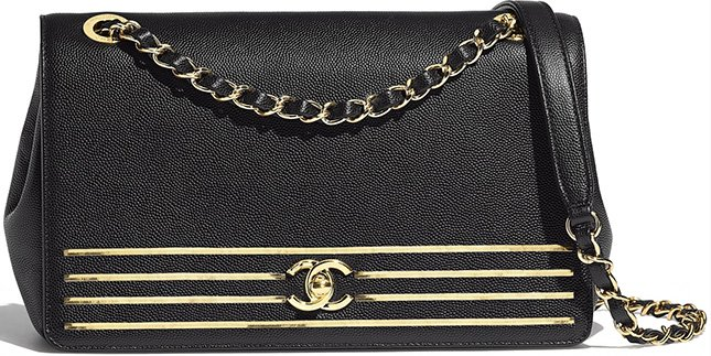 Chanel Captain Gold Flap Bag