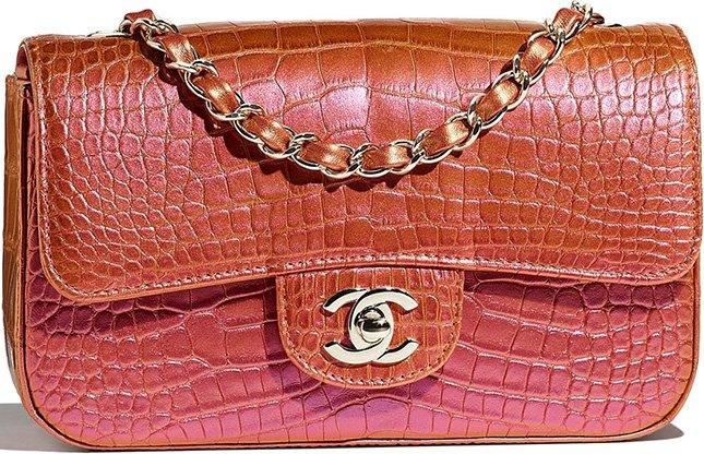 Chanel New Mini Alligator Flap Bag