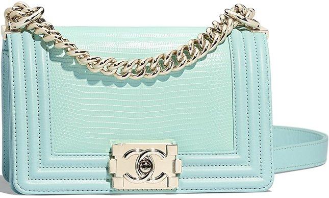 Chanel Small Boy Lizard Flap Bag