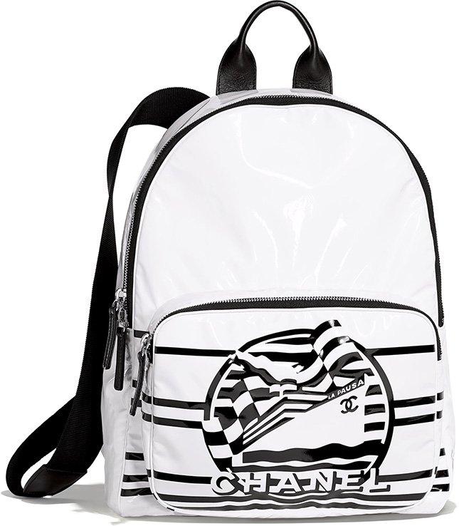 Chanel Vinyl La Pausa Bay Backpack