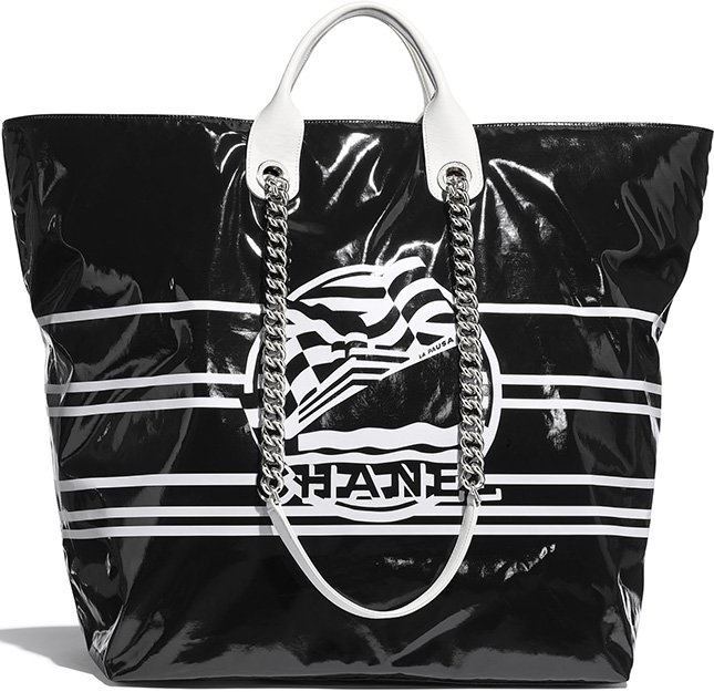 Chanel Vinyl La Pausa Bay Large Shopping Bag
