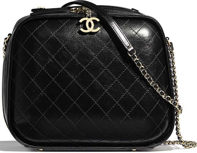 Chanel Crumpled Calfskin Vanity Case