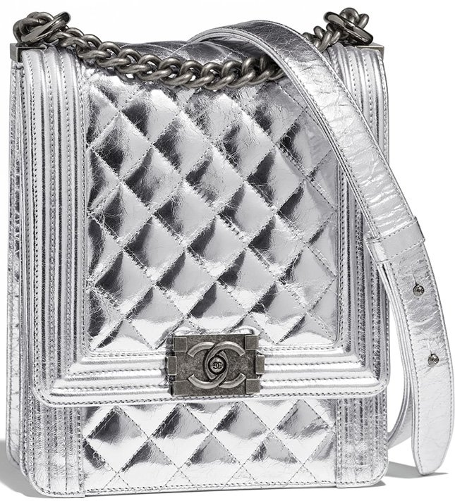 Chanel Boy North South Bag Style code  AS0130 Size  7.7  x 6.3′ x 2.4′  inches fb93fd6a9774f