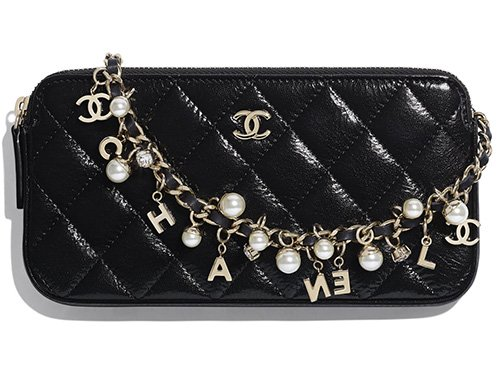 Chanel Pearl With Charm Clutch With Chain thumb