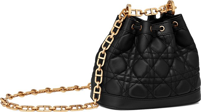 MINI MISS DIOR LAMBSKIN BUCKET BAG