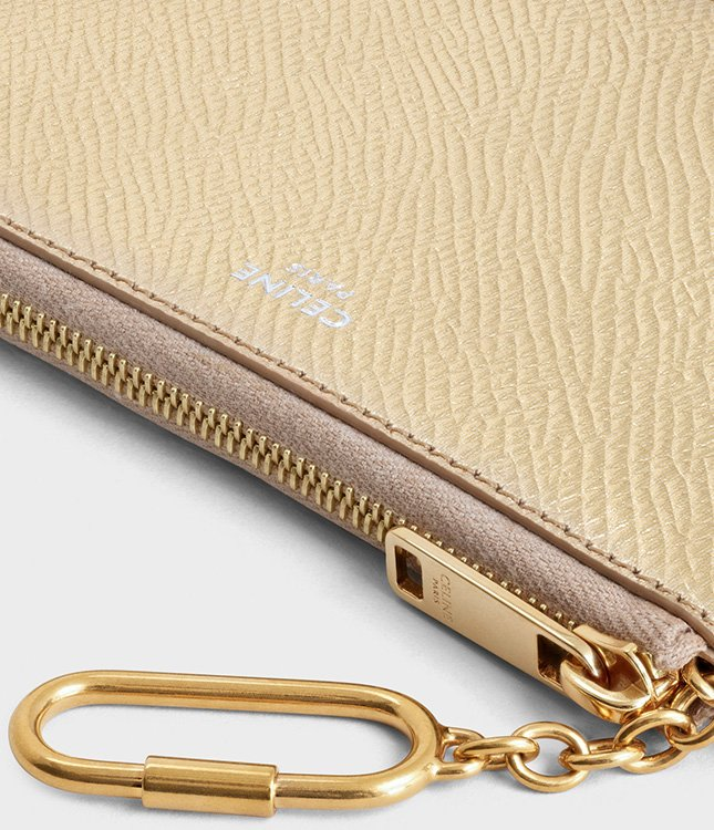 Celine Coin Card Pouch With Hook