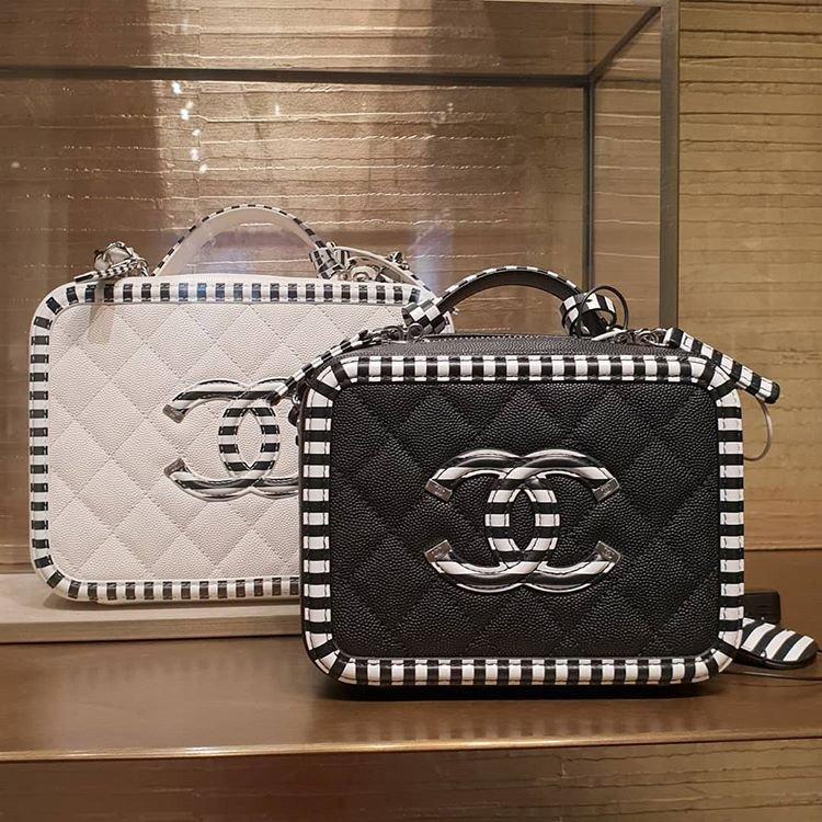 Chanel Multicolor Cc Filigree Vanity Cases Bragmybag