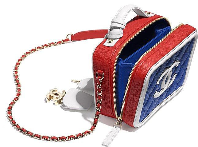 Chanel Multicolor CC Filigree Vanity Case
