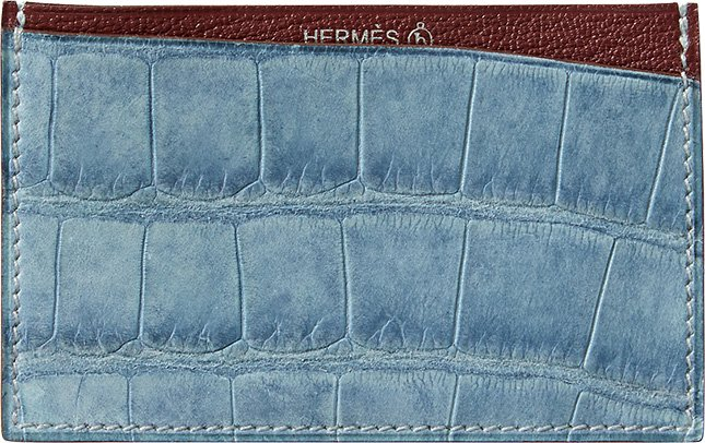Hermes Petite H Alligator And Goatskin Card Holder