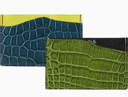 Hermes Petite H Alligator And Goatskin Card Holder thumb