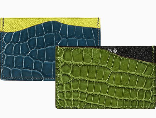 Hermes Petite H Alligator And Goatskin Card Holder thumb