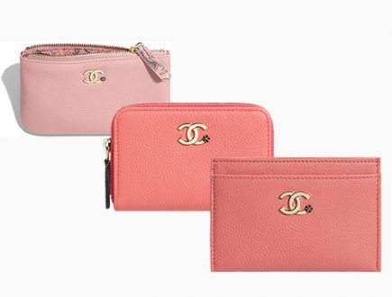 Chanel CC Camellia Smooth Leather Card Holder Coin Purses thumb