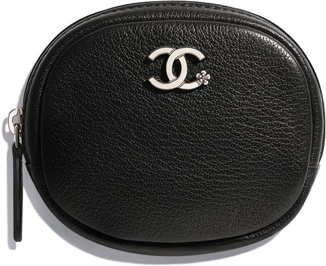 Chanel CC Camellia Smooth Leather Card Holder Coin Purses