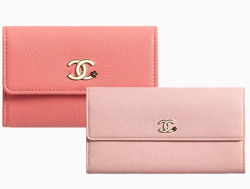 Chanel CC Camellia Smooth Leather Wallets thumb