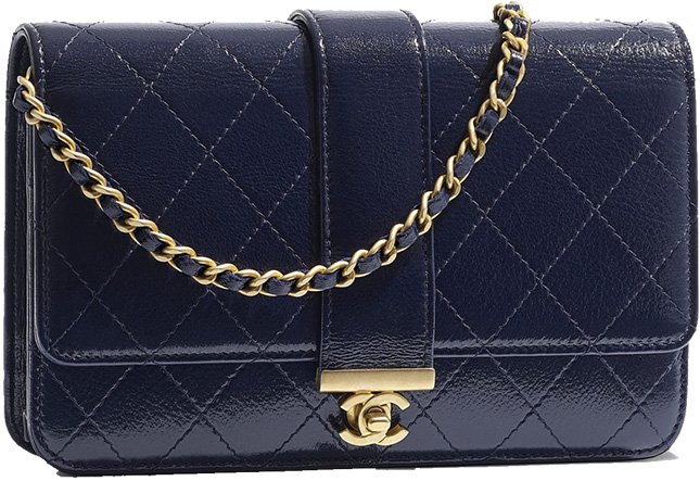 Chanel Front Leather CC Strap WOC
