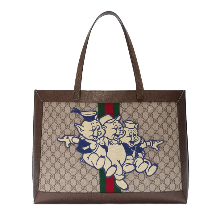 gucci pig chinese new year tote