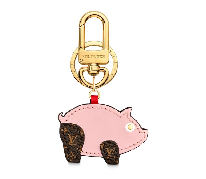 louis vuitton charm chinese new year pig lock