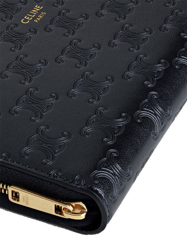 Celine Triomphe Zip Wallet And Introducing The Triomphe CC Pattern