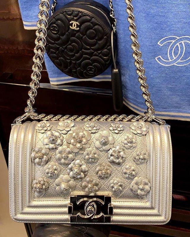 5726f1b6d329b Chanel Boy Camellia On Quilt Bag | Bragmybag