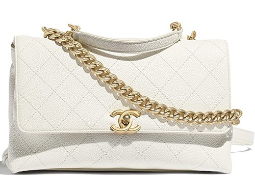 Chanel Grained Calfskin Flap Bag thumb