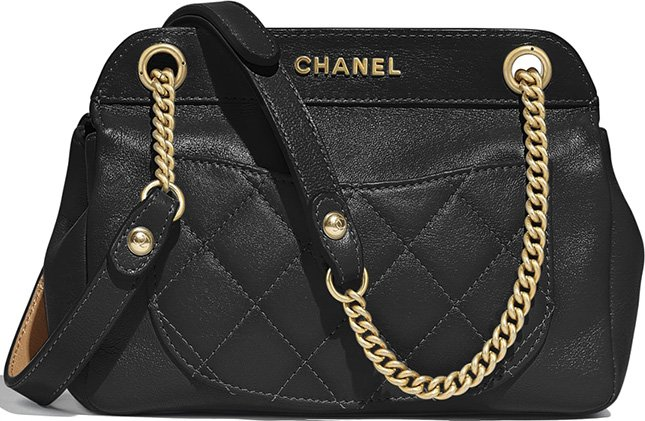 Chanel Lambskin Curved Flap Bag