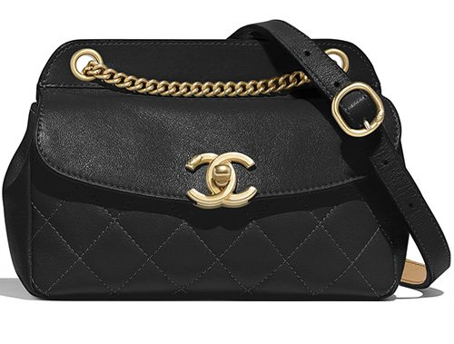Chanel Lambskin Curved Flap Bag thumb
