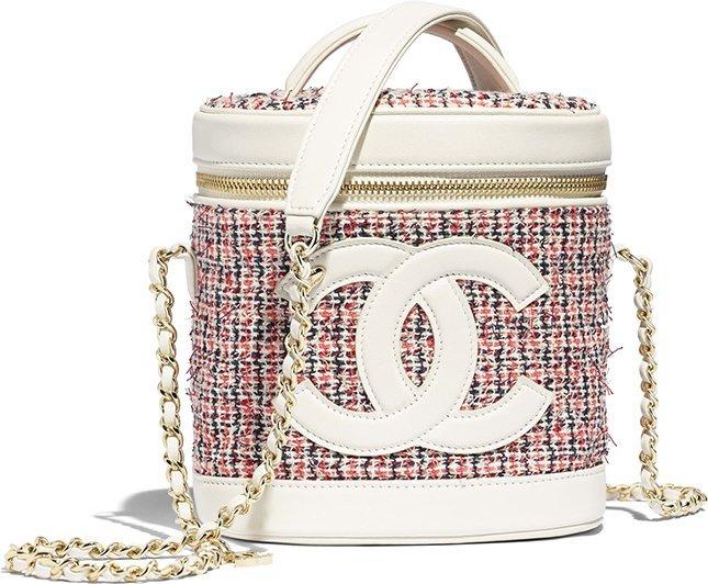 Chanel Tweed Vanity Case
