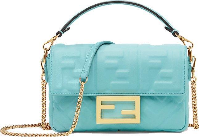 Fendi FF Motif Baguette Bag