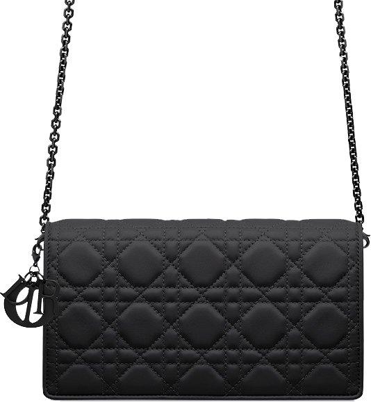 Lady Dior Ultra Black Shoulder Bag