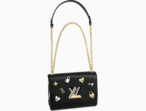 Louis Vuitton Twist Love Lock Charms On Bag thumb