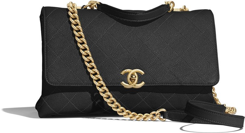 chanel grained calfskin bag
