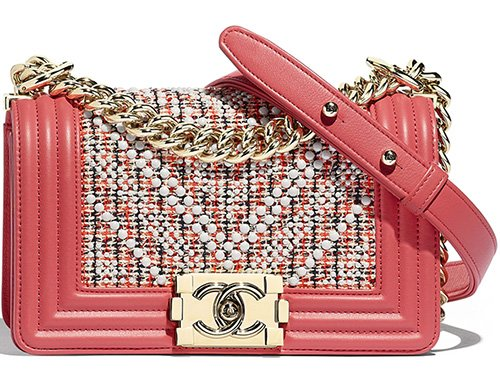 Chanel Boy Multicolor Chevron Pearl Bag thumb