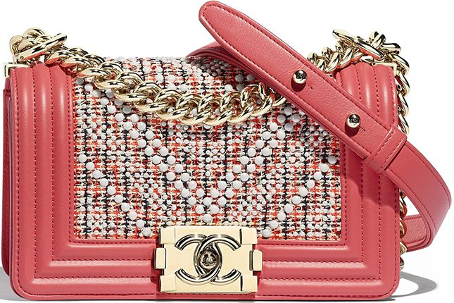 Chanel Boy Multicolor Chevron Pearl Bag