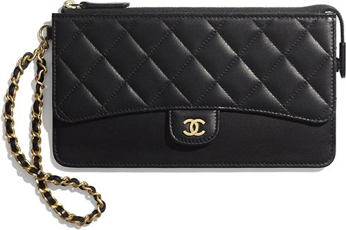 6474e3daadb5 Chanel Classic Pouch with Woven Leather Strap