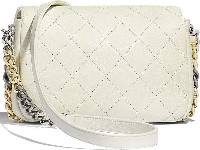 Chanel Envelope Flap Bag With Bi Color Hardware