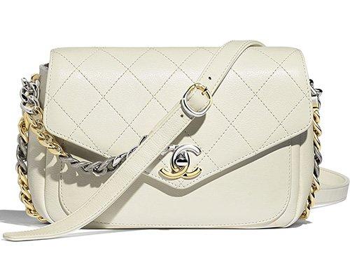 Chanel Envelope Flap Bag With Bi Color Hardware thumb