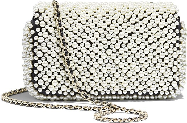 Chanel Overall Pearl Bag