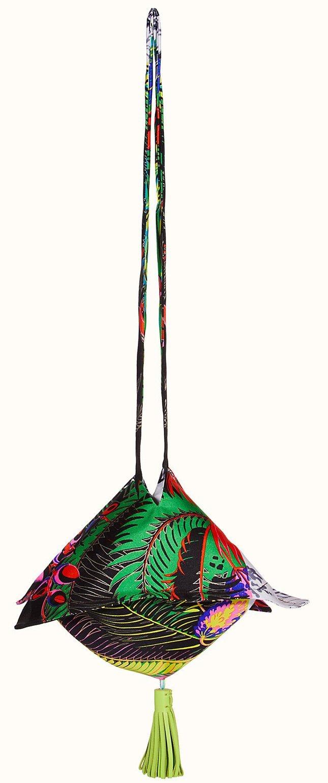 Hermes Petite H Silk Twill Bag