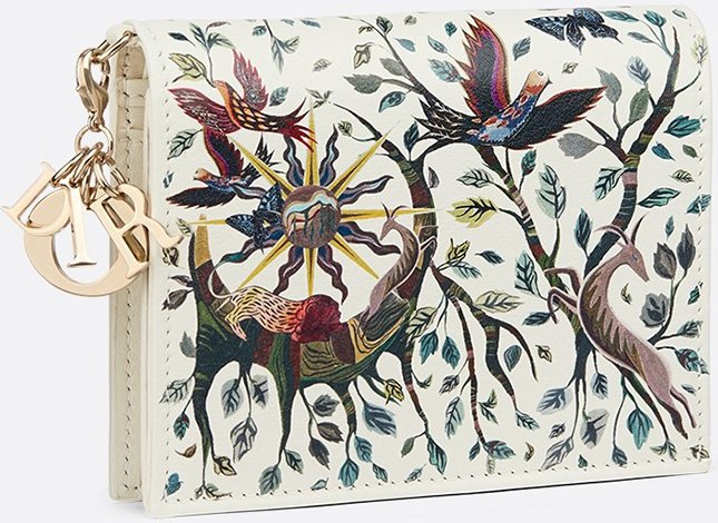 Lady Dior Nature Ballet Wallets