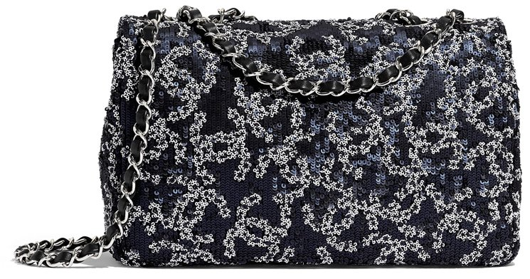Chanel CC Sequins Quilted Classic Bag