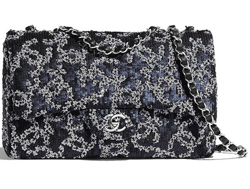 Chanel CC Sequins Quilted Classic Bag thumb