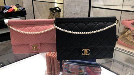Chanel Chain With Pearl Bag thumb