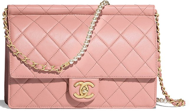 Chanel Chain With Pearl Bag