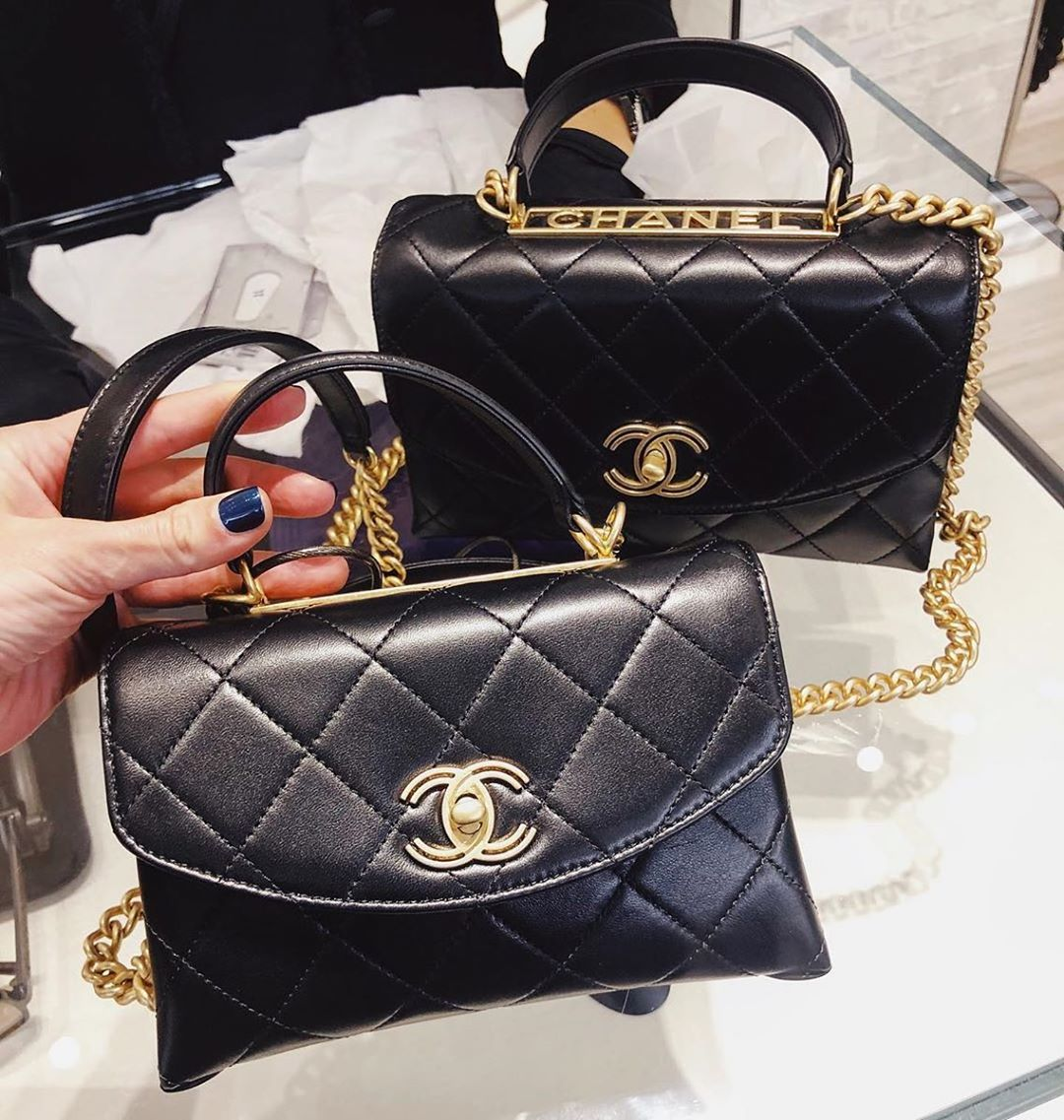 Chanel Gold Top Handle Bag