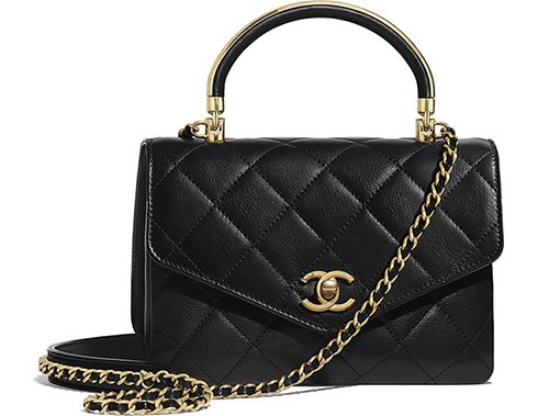 Chanel Gold Top Handle Bag thumb