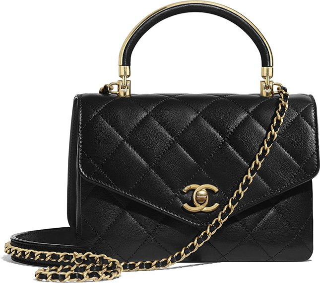 Chanel Gold Top Handle Bag