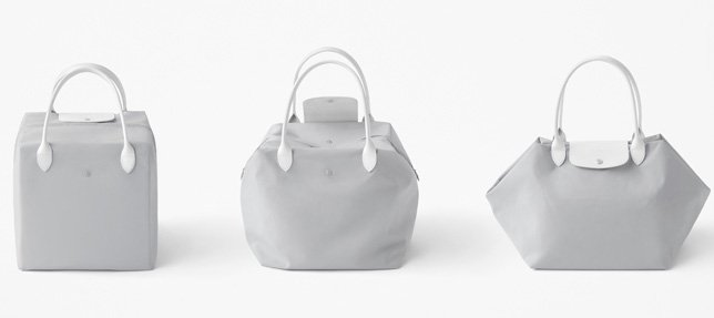 Longchamp x Nendo Katachi Bag collection